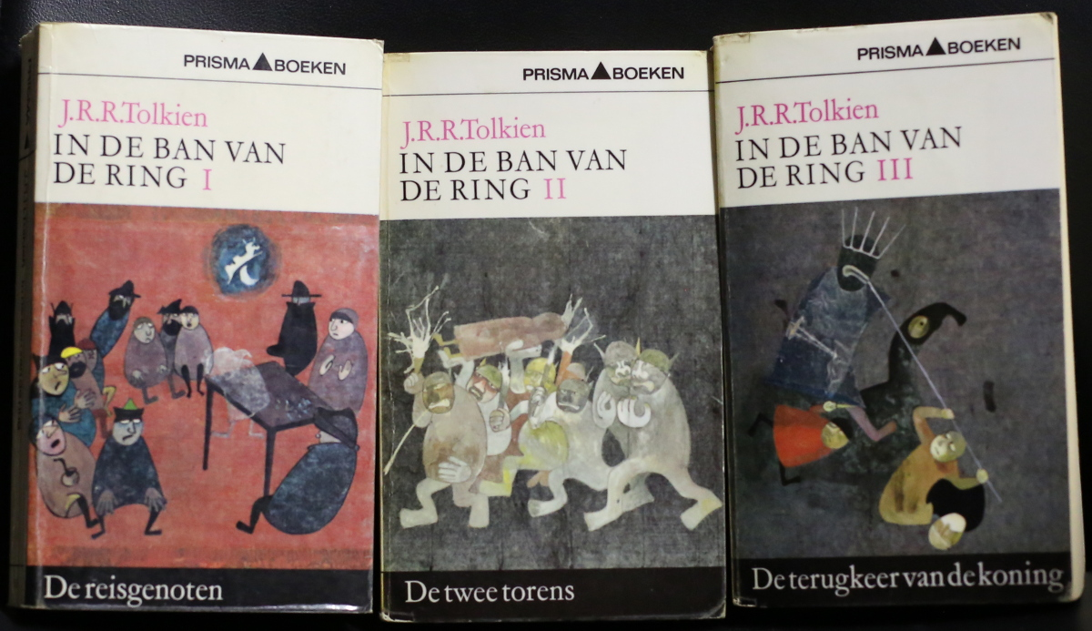 Dutch covers of Lord of the Rings, in trilogy form